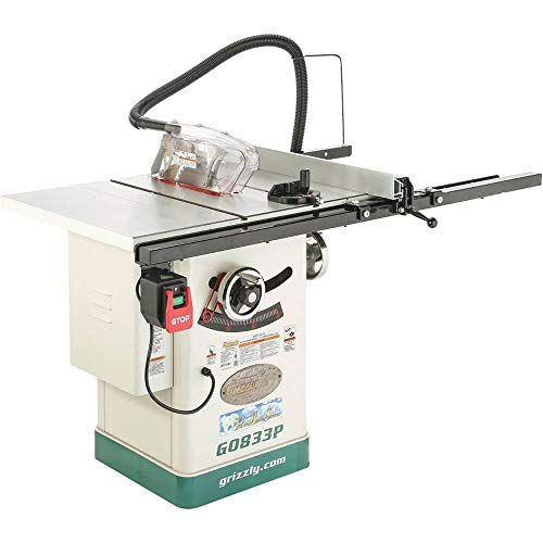 Grizzly Industrial G0833P - 10' 2 HP 230V Hybrid Table Saw with Riving Knife, Polar Bear Series