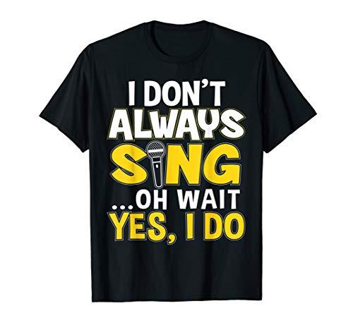 Lustiges Karaoke Bar Dj Sänger T Shirt