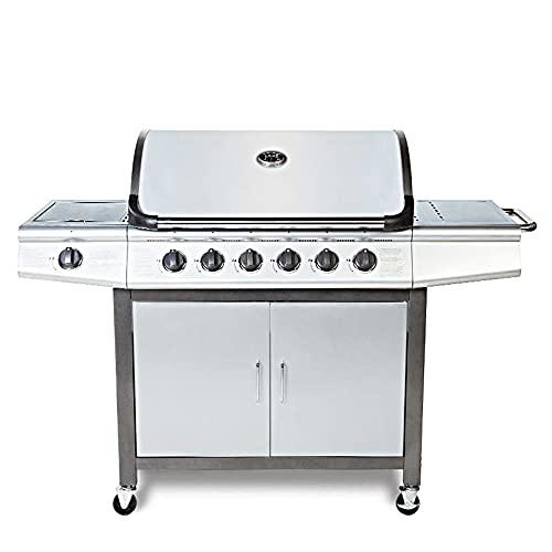 CosmoGrill Barbecue Da Esterno 6+1, Grill Professionale A Gas