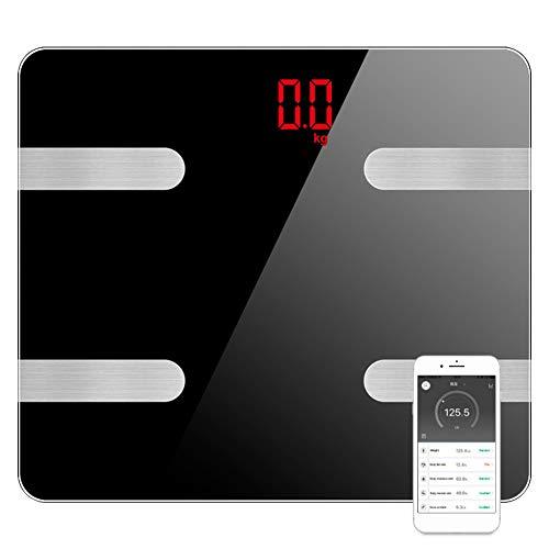 WZTO Balanza de Grasa Corporal Digital Inalámbrica Inteligente,15 datos Relacionados Analizador de Composición, Bluetooth 4.0, APP Seguimiento de Datos, Compatible con las Aplicaciones de IOS y Android