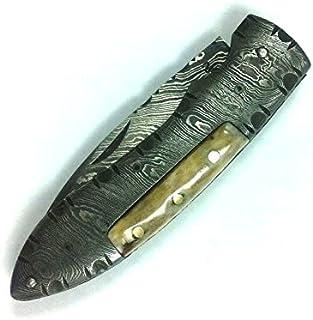 Handmade Damascus Pocket Knife - Beautiful Folding Knife