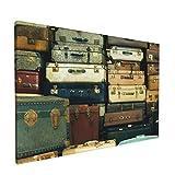 PATINISA Muchas maletas antiguas de época Painting Cuadro sobre Lienzo Canvas Wall Art para Colgar Impresión de la...