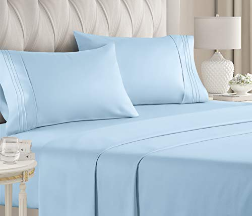 Queen Size Sheet Set - 4 Piece - Hotel Luxury Bed Sheets - Extra Soft...