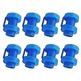 Endkappen für Trampolin 8 Stück Endkappen für Netzstangen, Ersatzteile Trampolin Durchmesser 25 mm für die Netzstangen des Trampolins (blau)