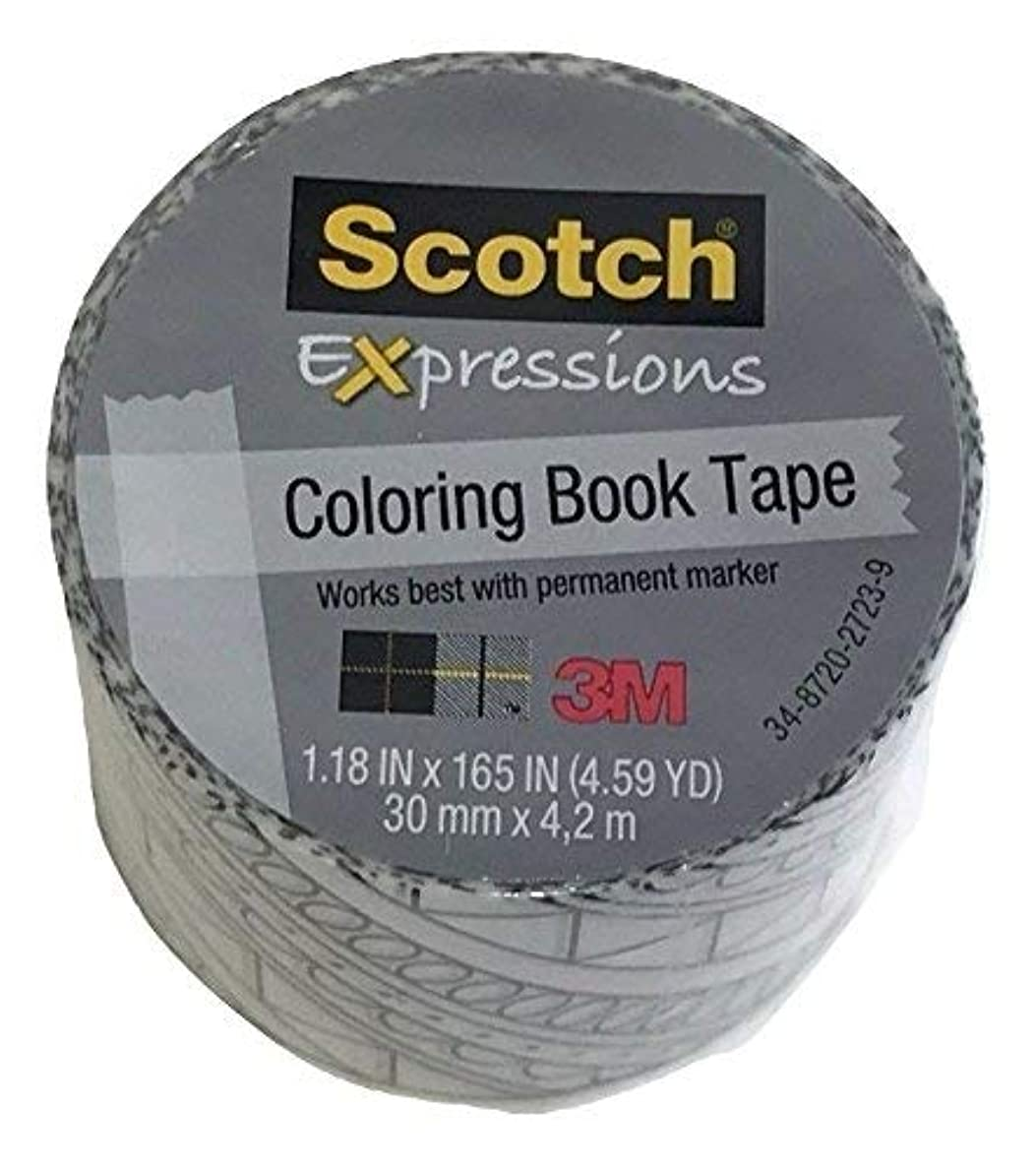 Scotch Expressions Coloring Book Tape, Diagonal 1.18 in x 165 in
