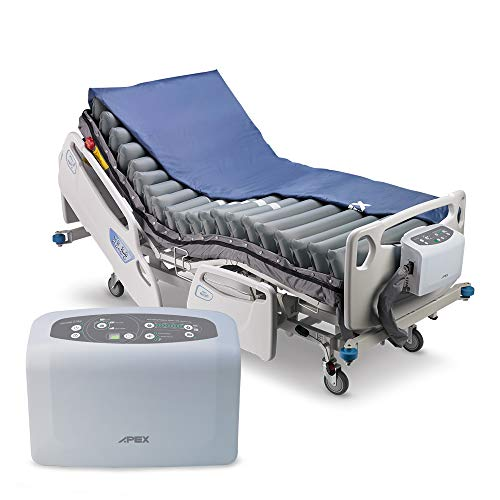 Apex Medical Serene Elite- 42' Width Bariatric Low Air Loss Alternating Pressure Mattress with Powerful Digital Pump -4 Cycle Time Options- Pressure Ulcer Prevention- Fits Hospital Bed
