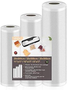 3-Pack VPCOK Vacuum Sealer Bags (8