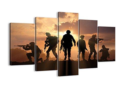 Bild auf Leinwand - Leinwandbilder - fünf Teile - Breite: 150cm, Höhe: 100cm - Bildnummer 2962 - fünfteilig - mehrteilig - zum Aufhängen bereit - Bilder - Kunstdruck - EA150x100-2962