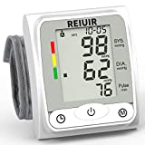 COLEBY Wrist Blood Pressure Monitor BP Cuff Automatic Accurate Blood Pressure Machine Heart Pulse Rate Monitoring Meter 2×120 Sets Memory LCD Display Screen for Home Office Use