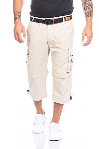 Fashion Herren Shorts Kurze Hose mit Dehnbund ID388, Größe:XXL;Farbe:Beige