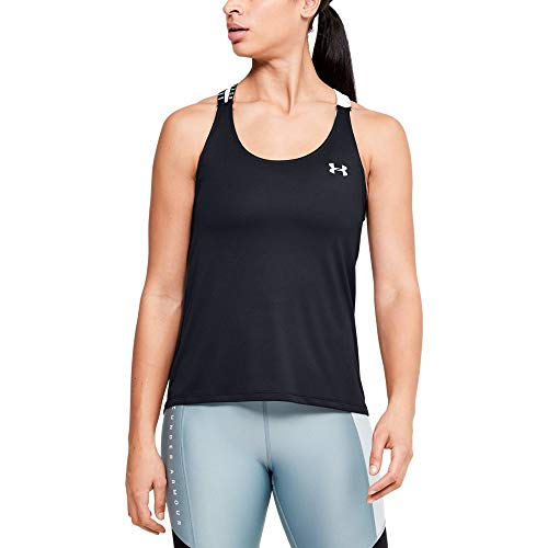 UA Under Armour HeatGear - Camiseta de tirantes para mujer, Negro , S