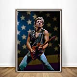 yhyxll Bruce Springsteen Rock Band Poster Wandkunst