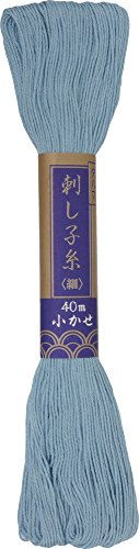 ダルマ 刺し子糸 細 小かせ 40m col.26 水色 5かせセット