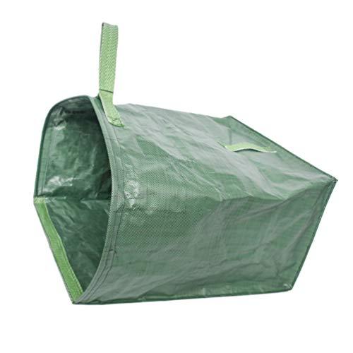 Hemoton Sacos de Jardim Sacos de Folhas Reutilizáveis ??Contentor de Resíduos de Jardim Saco de Lixo Contentor de Sacos para Folhas Aparas de Relva E Ervas Daninhas (Verde)