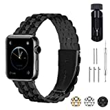 Fullmosa 3 Couleurs Bracelet Compatible avec Apple Watch 38mm/40mm/42mm/44mm, Armor...