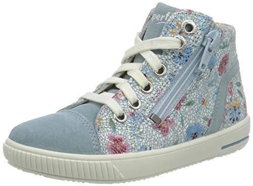 Superfit Baby Mädchen Moppy Sneaker, Blau (Hellblau/Blau 85), 23 EU