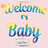 Welcome baby All in one Wishes and Advice for Parents and Baby Cards style Baby Shower Guest Books, Gifts Tracker Log & Keepsake...