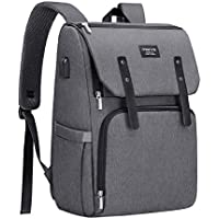 MOSISO Diaper Bag Backpack with Stroller Straps/USB Charging Port