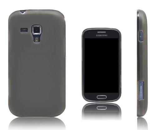 Xcessor Vapour Custodia per Samsung Galaxy S Duos s7562 / Trend s7560. Flessibile TPU Gel. Grigio/Semitrasparente