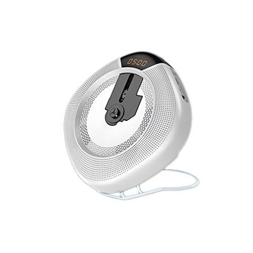 BOWCORE Home Draagbare CD Spelers Wandmontage Afstandsbediening Mini Bluetooth Speaker DVD Speler LED HD Oogbescherming VCD Mobiele Blu-ray Film EVD Repeater Mp3, Kleur: wit