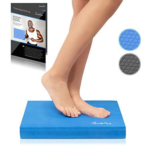 SportyAnis® Balance-Pad inkl. Übungsheft - Innovatives Balance-Kissen zur Stärkung der Tiefenmuskulatur und Steigerung von Balance, Stabilität und Gleichgewicht (Blau)