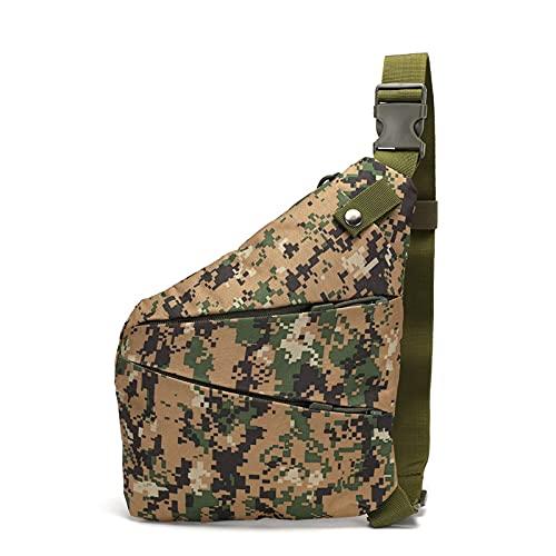 QIANJINGCQ bolsa de lona explosiva para montar camuflaje deportes al aire libre pequeña bolsa de pecho hombro diagonal bolsa táctica al aire libre bolsa de pecho mochila