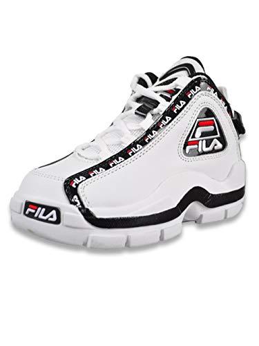 Fila Grant Hill 2 Repeat Zapatillas de baloncesto para niños, negro (blanco/negro/rojo Fila), 30 EU