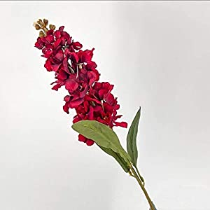 Silk Flower Arrangements Artificial and Dried Flower Autumn Silk Hyacinth Artificial Flowers Violet Wedding Simulation Flower Branch Delphinium Home Decoration Fake Gladiolus - ( Color: Red )