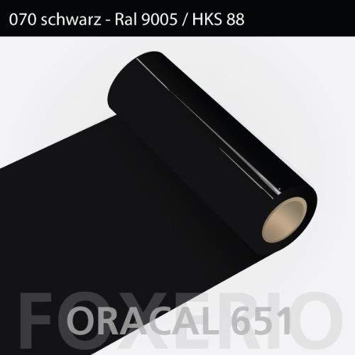 Orafol - Oracal 651 - 63cm Rolle - 10m (Laufmeter) - Schwarz / glanz, A43oracal - 651 - 10m - 63cm - 01 - kl - Autofolie / Möbelfolie / Küchenfolie