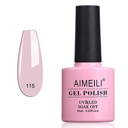 AIMEILI Soak Off UV LED Vernis à Ongles Gel Semi-Permanent Rose Gel Polish Pink - Bryophyllum Pinnatum (115) 10ml