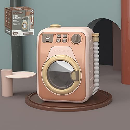 EASYTAO Electrodomésticos Play House Lavadora de Juguete,Lavadora de Juguetes ElectróNica con Sonidos y Funciones Realistas, Juego de Limpieza Interactivo para NiñOs PequeñOs(Color:Rosa Individual)