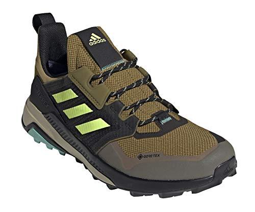 adidas Men's Terrex Trailmaker Gore-TEX Hiking Shoe, Wild Moss/Hi-Res Yellow/Acid Mint - 11.5