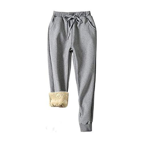CRTY Basculadores de Las Mujeres Pantalones de chándal con los Bolsillos de los Pantalones Salón y cordón Pantalones de Entrenamiento Yoga, Correr Basculador del paño Grueso y Suave de los Pantalones