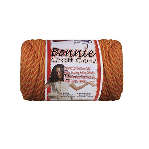 Pepperell Bonnie Macrame Craft Cord, 4mm by 100 yd, Tangerine