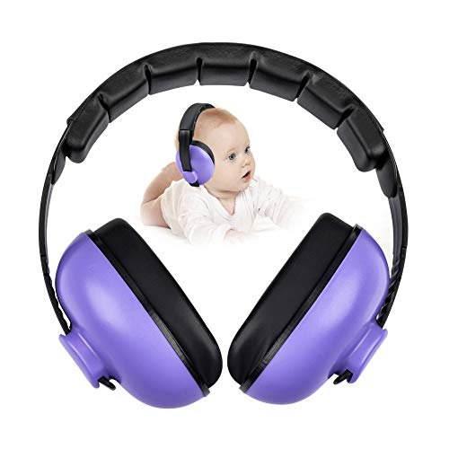 Noise Cancelling Headphones for Kids, Babies Ear Protection Earmuffs Noise Reduction for 0-3 Years Babies, Toddlers, Infant (Purple)