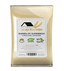 HARINA DE ALMENDRAS (1 KG) | PREMIUM | Sin gluten | Apta para dietas Keto (5,4g x 100g carbohidratos) | Apto Vegano | 100% natural | LA CASA DE LA HARINA | Producto de España…