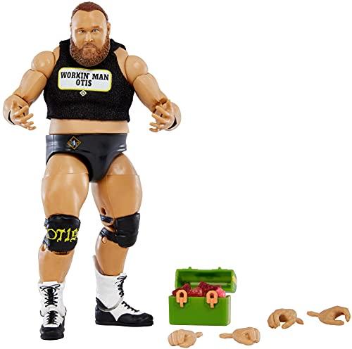 WWE Élite Figura de acción Otis, muñeca articulada de juguete con accesorios para...