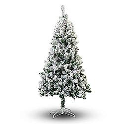 Top 5 Prettiest Flocked Christmas Trees 2017 The Flooring Girl - Christmas Tree Stand Mat