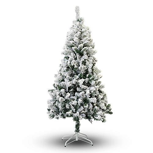 6-Feet, Flocked Snow Perfect Holiday Christmas Tree