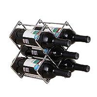 porta bottiglie di vino scaffale portabottiglie vino metallo per 5 bottiglie scaffale per vini ideale per bar cantina cucina dispensa spdycess