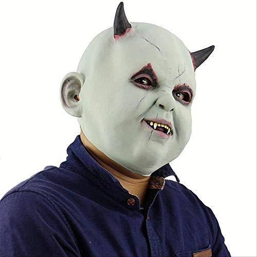 PMWLKJ Máscara payaso terror Halloween Fiesta maquillaje