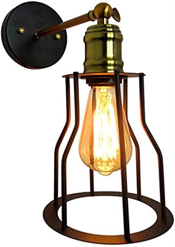 GWDFSU Lámpara de Pared Luz Interior Lámparas de Pared Vintage Loft Metal Retro Industrial Lámpara de Pared de Metal con Enchufe E27 Luminaria para casa, Bar, Descanso