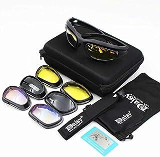 Daisy X7 Gafas de sol polarizadas militares, a prueba de balas, Airsoft, disparo, lentes de humo para motocicleta o ciclismo C5