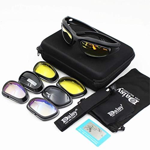 IYOUTHTIME Gafas de sol polarizadas para hombre, a prueba de balas, airsoft, lentes ahumadas, gafas de ciclismo