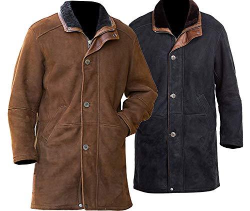 EU Fashions Sheriff Walt Longmire Suede lederen bruin/zwarte jas