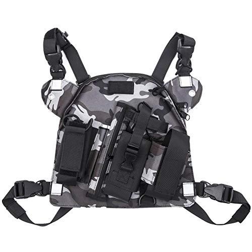 Funda universal para el pecho con bolsillos de almacenamiento para Kenwood Arcshell Retevis Baofeng UV-5R F8HP UV-82 (Rescue Essentials)
