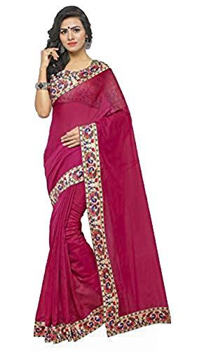 Indische Bollywood Hochzeit Saree indische ethnische Hochzeit Sari neue Kleid Damen lässig Tuch Geburtstag Ernte Top Mädchen Frauen schlicht traditionelle Party Wear Readymade Kostüm (wein)