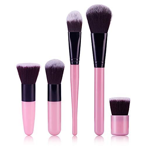 5Pcs/Set Pinceaux à Maquillages Professionnel WINJIN Brosse de maquillage Ensemble de Pinceau maquillage Cosmétique Outils Makeup brushes avec poignée en bambou Pour fonds de teint,Kabuki,Rougir