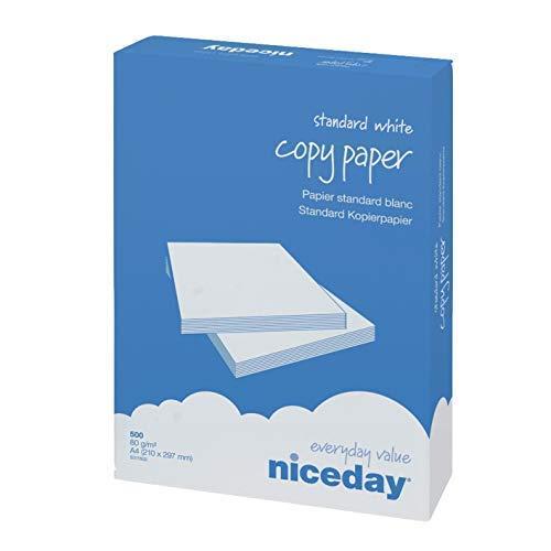 500 Blatt Kopierpapier Weiß Druckerpapier Business Kopier Papier Copy White Faxpapier Paper Drucker Papier Hochweiß Universalpapier DIN A4 80g / m² 80g/qm - 21 mm x 29,7 cm