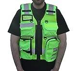 Gilet tactique haute visibilité pour officiers de sécurité, représentants de...